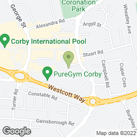 Map of Flowertime in Corby, northamptonshire