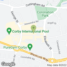 Map of Greggs in Corby, northamptonshire