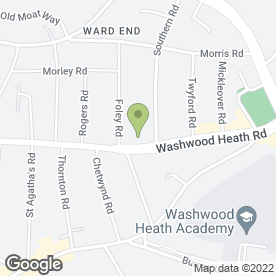 Map of Bhandal Dental Practice in Ward End, west midlands