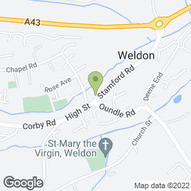Map of The George Hotel in Weldon, Corby, northamptonshire