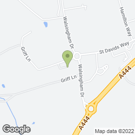 Map of Nuffield Health Day Nursery in Bermuda Park, Nuneaton, warwickshire