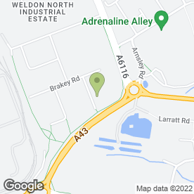Map of Chrome Nickel Alloys Ltd in Weldon North Industrial Estate, Corby, northamptonshire