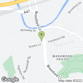 Map of Charles Wilson Engineers Ltd in Washwood Heath, Birmingham, west midlands