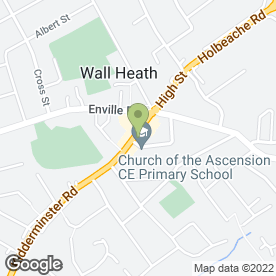 Map of BEAUTY ROOMS in Wall Heath, Kingswinford, west midlands