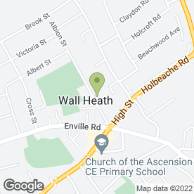 Map of Emerald Chinese Cantonese Restaurant in Wall Heath, Kingswinford, west midlands