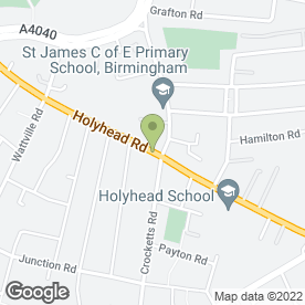 Map of R K Furniture in Handsworth, Birmingham, west midlands