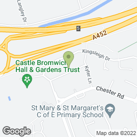 Map of J Eastwood Bridal in Birmingham, west midlands