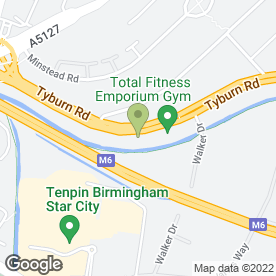 Map of Tyburn Service Centre in Erdington, Birmingham, west midlands