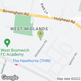 Map of Autofit Centre Ltd in Middlemore Road, Birmingham, west midlands