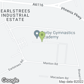 Map of Orchard House Foods in Earlstrees Industrial Estate, Corby, northamptonshire