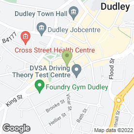 Map of Brecks in Dudley, west midlands