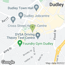 Map of Dudley Post Office in Dudley, west midlands