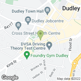 Map of Royal Bank of Scotland in Dudley, west midlands
