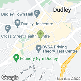 Map of Nationwide Building Society in Dudley, west midlands