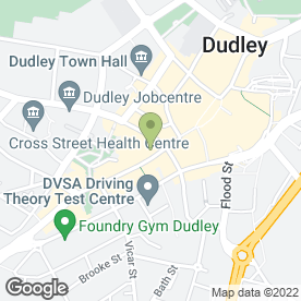 Map of Subway in Dudley, west midlands