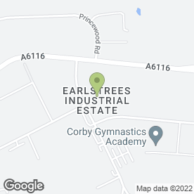 Map of Grove Electrical Engineering Ltd in Earlstrees Industrial Estate, Corby, northamptonshire