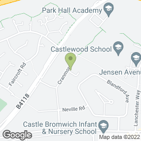 Map of Andy Clarke Driving School in Castle Bromwich, Birmingham, west midlands