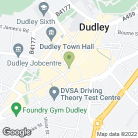 Map of Thomas Cook Retail Ltd in Dudley, west midlands