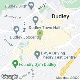 Map of Gala Coffee Lounge & Take Away in Dudley, west midlands
