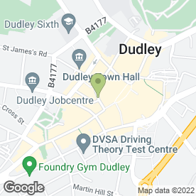 Map of The Griffin in DUDLEY, west midlands
