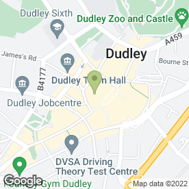 Map of Bowin Travel Agent in DUDLEY, west midlands