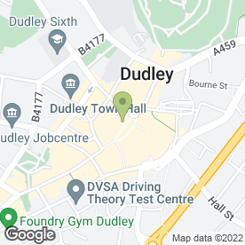 Map of Greggs in Dudley, west midlands