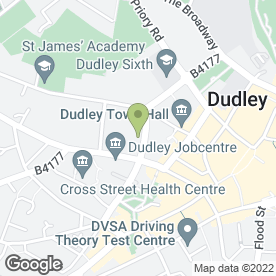 Map of Barry J Morris in Dudley, west midlands