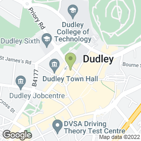 Map of The Old Priory in DUDLEY, west midlands
