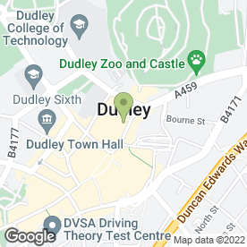 Map of Exposure Tanning & Beauty in Dudley, west midlands