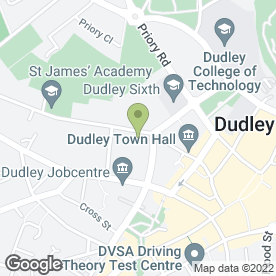 Map of Citizens Advice Bureau in Dudley, west midlands