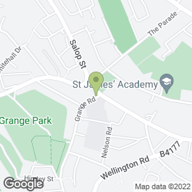 Map of The Grange in Dudley, west midlands