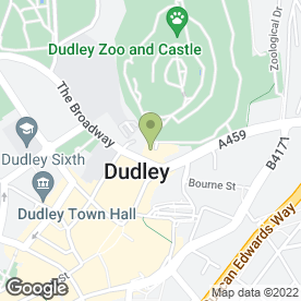 Map of The Fellows in Dudley, west midlands
