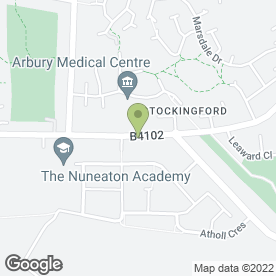 Map of Arbury Balti in Nuneaton, warwickshire