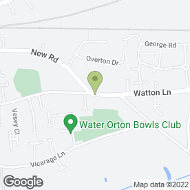 Map of T.J Sutton in Water Orton, Birmingham, west midlands