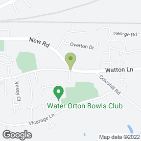 Map of PERFECT FEET PODIATRY in Water Orton, Birmingham, west midlands