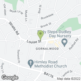 Map of Mane Street in Gornal Wood, Dudley, west midlands