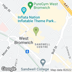 Map of Sandwell & Dudley Brook Advisory Centre in West Bromwich, west midlands