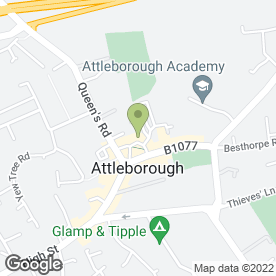 Map of HSBC Bank plc in Attleborough, norfolk