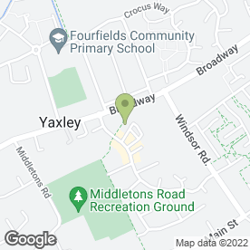 Map of Barclays Bank plc in Yaxley, Peterborough, cambridgeshire