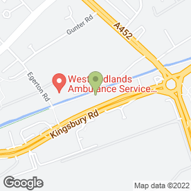 Map of Formula One Autocentres in Birmingham, west midlands