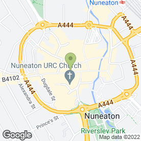 Map of Boots Hearing Care in Nuneaton, warwickshire