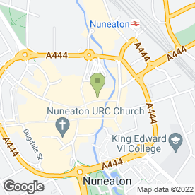 Map of Savers Health & Beauty Ltd in Nuneaton, warwickshire