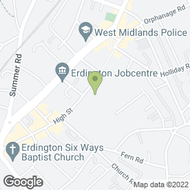 Map of Central Square Shopping Centre in Erdington, Birmingham, west midlands