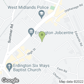 Map of Firkins Bakery Ltd in Erdington, Birmingham, west midlands