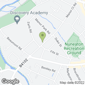 Map of Jack in the Box Day Nursery (Nuneaton) Ltd in Nuneaton, warwickshire