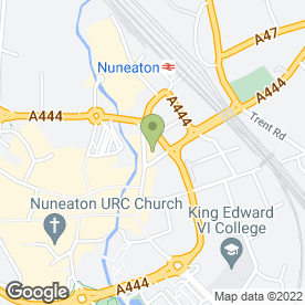 Map of D P's Financial Advice & Services Offices 27 & 30 in Nuneaton, warwickshire