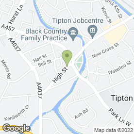 Map of Emergency Locksmith Tipton in Tipton, west midlands