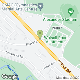 Map of Birmingham Crematorium in Perry Barr, Birmingham, west midlands