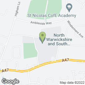 Map of North Warwickshire & Hinckley College in Nuneaton, warwickshire