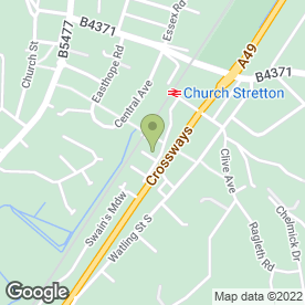 Map of Stretton Fitted Kitchens in Church Stretton, shropshire